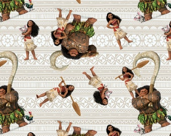 IN STOCK  Disney Fabric Moana and Friends Fabric From Springs Creative