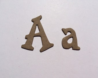 10 Plain Chipboard Letters - 1.5 inches / 4cm Tall