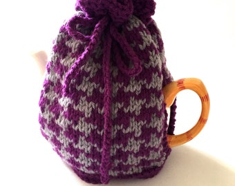 tea cozy hand knitted tea pot  cosy