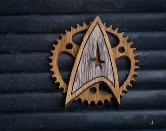 Steampunk Starfleet Badge - star trek inspired