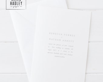 Printable wedding invitation set - Forbes collection