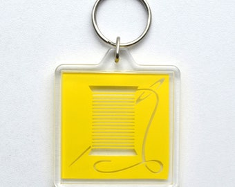 Needle and Thread Icon Keychain / Accessory / Charm / Token