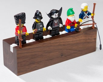 Hardwood Display/Shelf for 5 to 7 Lego Minifigs