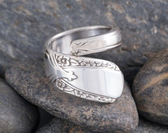 Silverware Handle Ring (Spoon Ring) Size 9 1/2 SR119