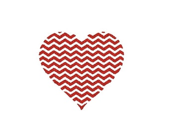Chevron Heart Machine Embroidery Design, heart embroidery, heart embroidery pattern, chevron heart design, anniversay design, wedding design