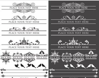 Vintage elements clipart - elegant flourish frames calligraphy frames vignettes ornate digital frames for scrapbooking and commercial use