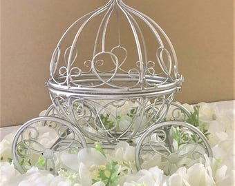 Cinderella Coach Centerpiece, Fairytale Wedding Centerpiece/Platinum Baby Shower/Princess Party/Quinceañera