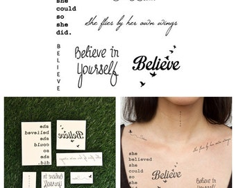 Shiny Things - Temporary Tattoos (Set of 12)