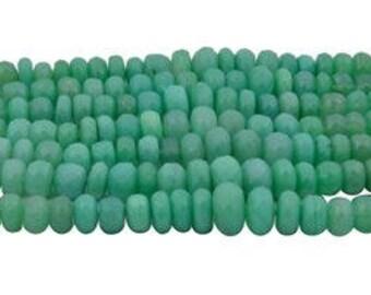 Chrysoprase Rondelle 4X7 8X12 mm 100 Carats - Chrysoprase Rondelle - Chrysoprase Gemstone - Chrysoprase Beads - Chrysoprase Stone -