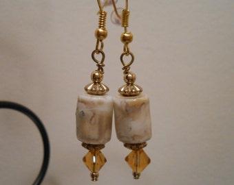 Sandy Brown Beaded Earrings Item No. 368
