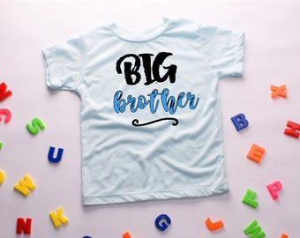 Big Brother T-shirt - announcement t-shirt - big brother gift - blue black