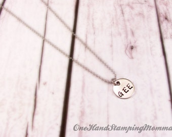 Personalized Jewelry - Hand Stamped Necklace - Hand Stamped Jewelry - Mom initial  Necklace