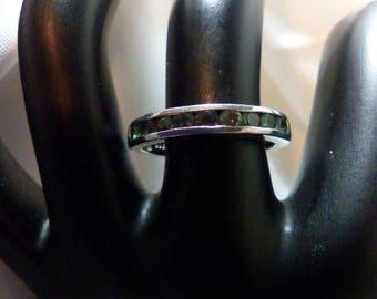 Alexandrite Simulant Sterling Silver Ring June Birthstone