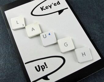 iTacks - Thumbtacks, LAUGH, bulletin board, Recycled, Mac, Apple, PC, Computer, Key, keyboard, gift, birthday, Teacher Gift, Student Gift