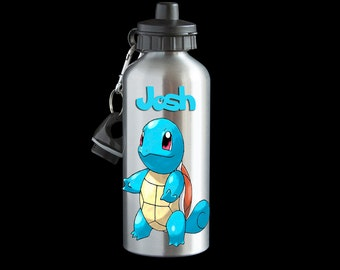 Personalised Squirtle Pokemon Go Water bottle, Aluminium Water bottle, Squirtle Drink Bottle, Pokemon gift, Squirtle Bottle
