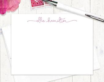 cartes de correspondance note personnalisée carte ensemble - parfaitement charmant - lot de 12 cartes plat - papeterie féminin - plaisir