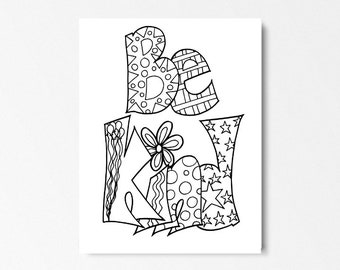 BE KIND -- Printable coloring pages for kids and adults. Colorable sheets. Inspiration, motivation & relaxation