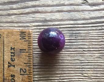 Large dark pink tourmaline bead 12mm