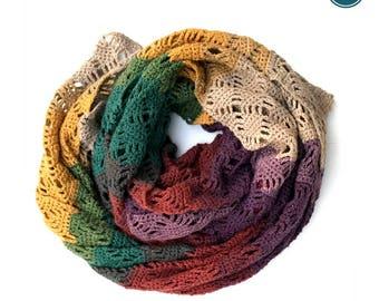 Crochet Pattern | Crochet Scarf | Wrap Me in Diamonds Crochet Scarf Pattern