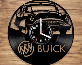 Buick Vinyl Record Wall Clock Auto 1954 Century Luxury Car Motors Vehicles Perfect  Decorate Home UNIQUE GIFT idea for Him Her (12 inches)