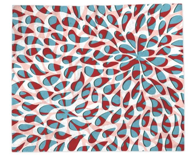 Floral Petals Pattern Blanket