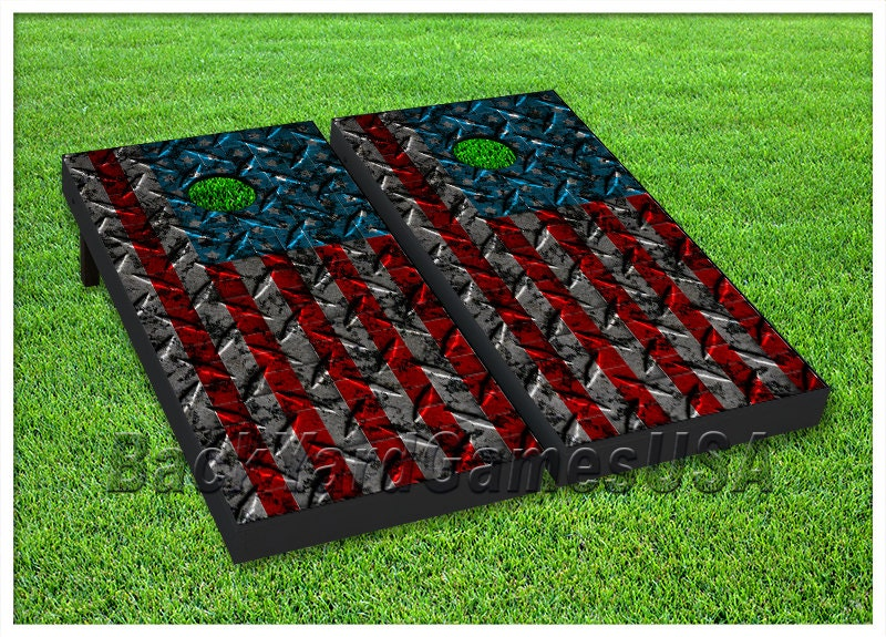 Patriotic Cornhole Boards With Bags Usa American Flag Bean Bag