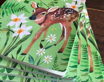 Fawn Journal | Graph Paper  | Woodland Journal | Katie Daisy