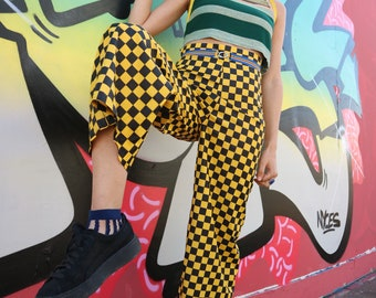 Yellow checkered trousers