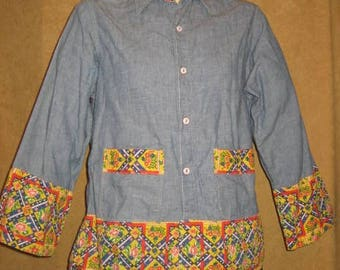 70s Big Mac Chambray Shirt Decorated Vintage