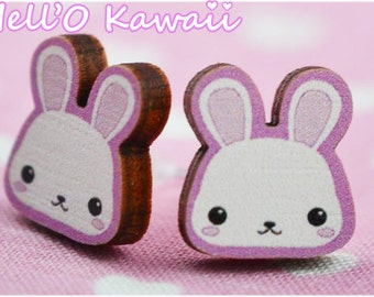 Boucles d'oreilles lapin