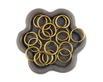 x 50 jump rings open bronze 10mm (33)