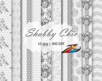 Sale Gray digital paper wedding invitation card grey Scrapbook Paper floral pattern Grey backgrounds digital pattern Wedding paper
