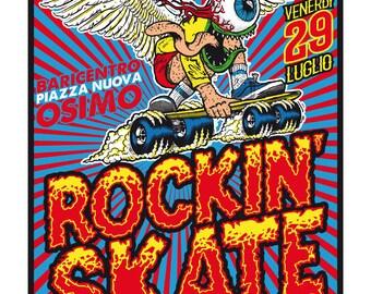 Rockin'skate gig poster