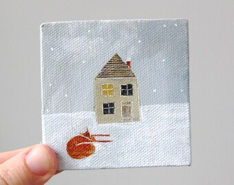 february house III / original painting on canvas