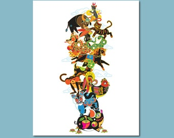 Totem Chinese New Year Animal Print