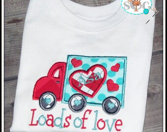 Loads of Love Personalized Truck Valentines Shirt