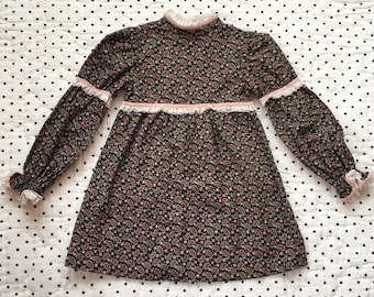 Vintage Paisley Long Sleeved Dress Girls Sz 3