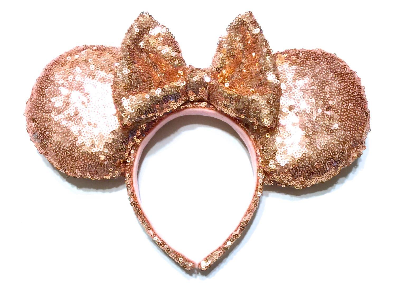 Rose Gold-Pailletten-Mouse-Ohren Rotgold Minnie Maus Ohren