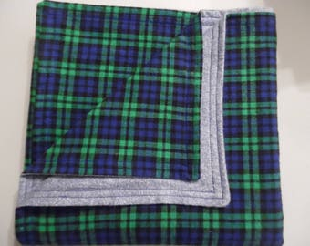 Denim and Plaid Flannel Baby/Toddler Blanket