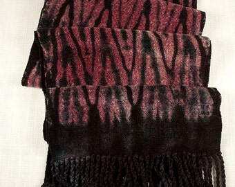 Handwoven Shibori Rayon Chenille Scarf