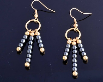 Gold filled and red cell gold hook earrings
