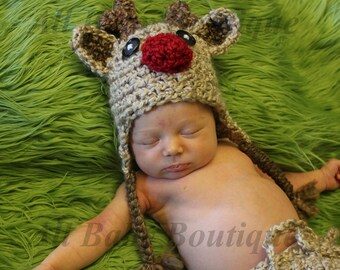 Baby Rudolph Reindeer hat Christmas (NB-child available)