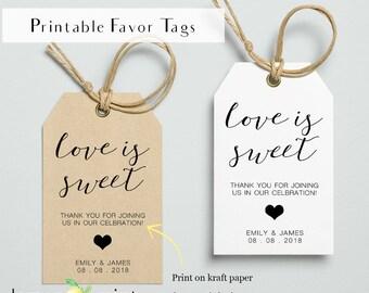 Printable favor tags printable personal favor tag wedding