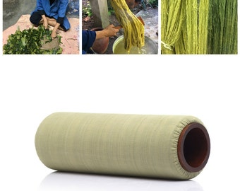 """5"""" Classic Lanna Roller Massage Foam Roller with Natural Dye """"Pistachio"""" Cover"""
