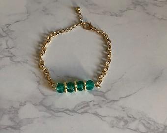 Green Gold Summer Bracelet