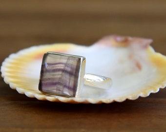 Multi Fluorite Ring - Size: 8
