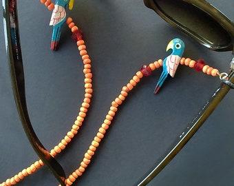 Eyeglass Chain, Sunglass Strap, Boho Eyeglass Holder, Beaded Glasses Chain, Eyeglass Lanyard, Eyeglasses Necklace, Sunglass Cord, Leash