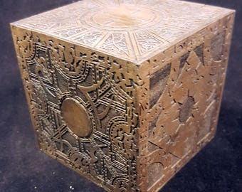 "Hellraiser ""The Box"" - Functional Puzzle Box - Storage Box - Horror Movie Inspired - Made from Hard Maple - Choose from 3 Different Puzzles"
