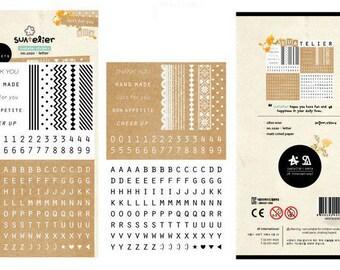 Kraft Sticker, Alphabet Sticker, Number Sticker, Chevron Sticker, Thank You Sticker Shipping End of July 2016