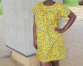 Ankara /African Print Tunic Dress